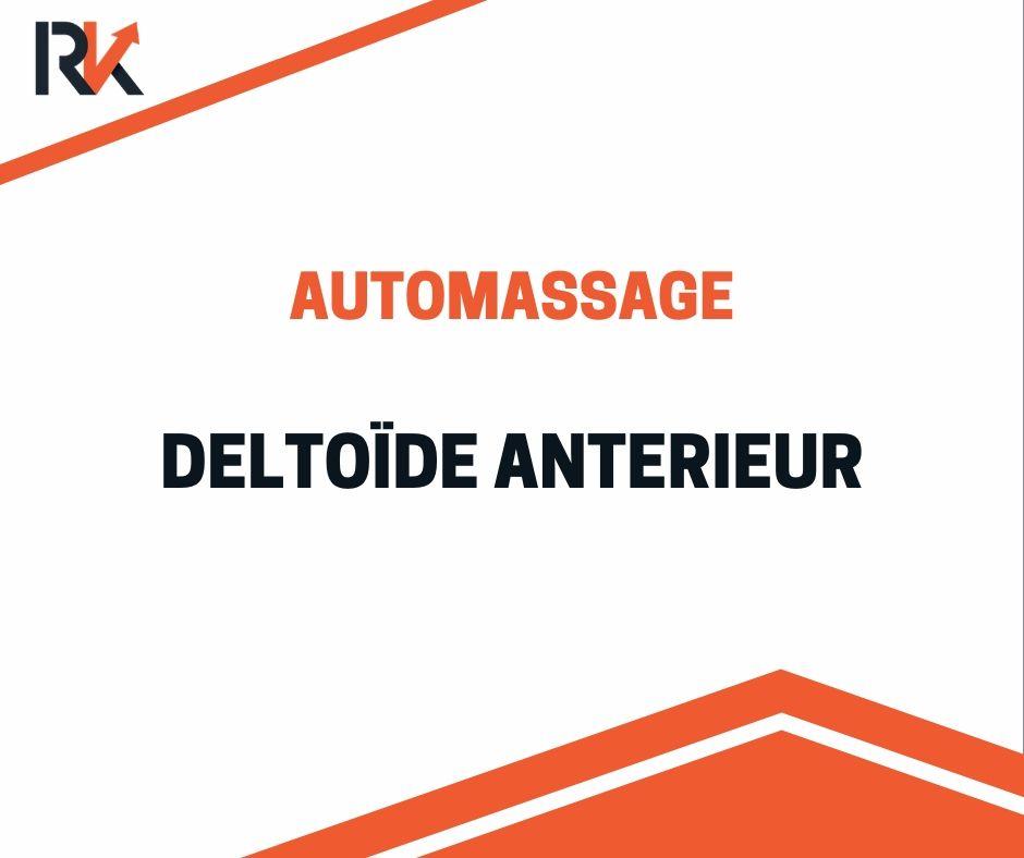 Automassage deltoïde antérieur