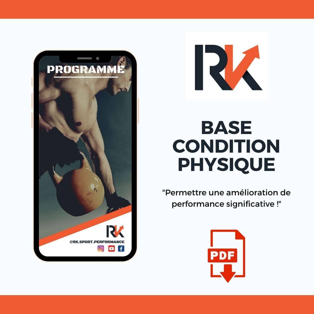 Plan d'entrainement - condition physique en musculation